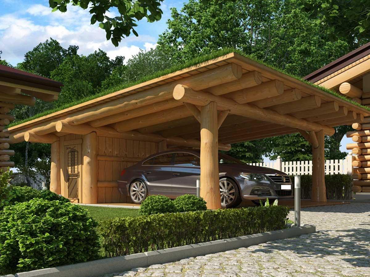 Naturstamm Carport Bausatz Carports Garages