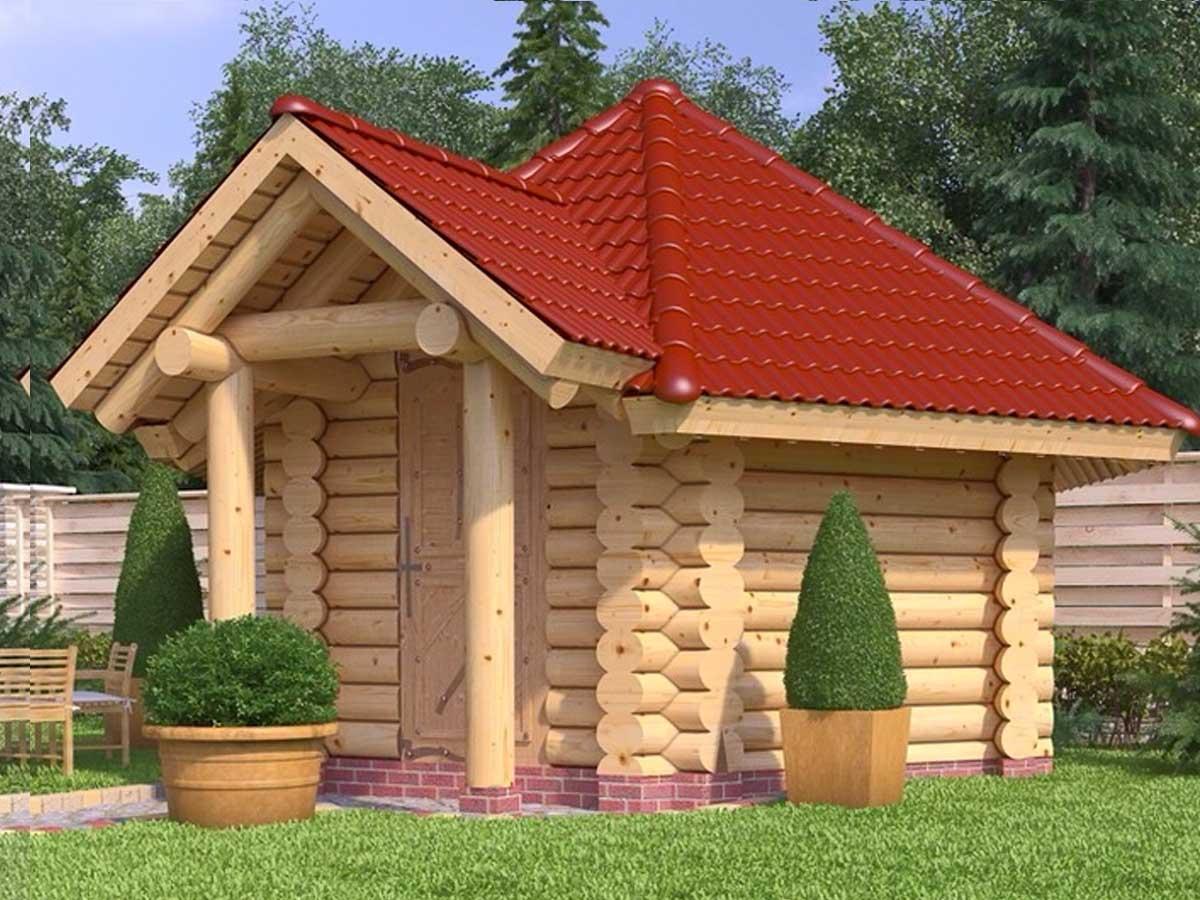 Blockhütte zum Grillen