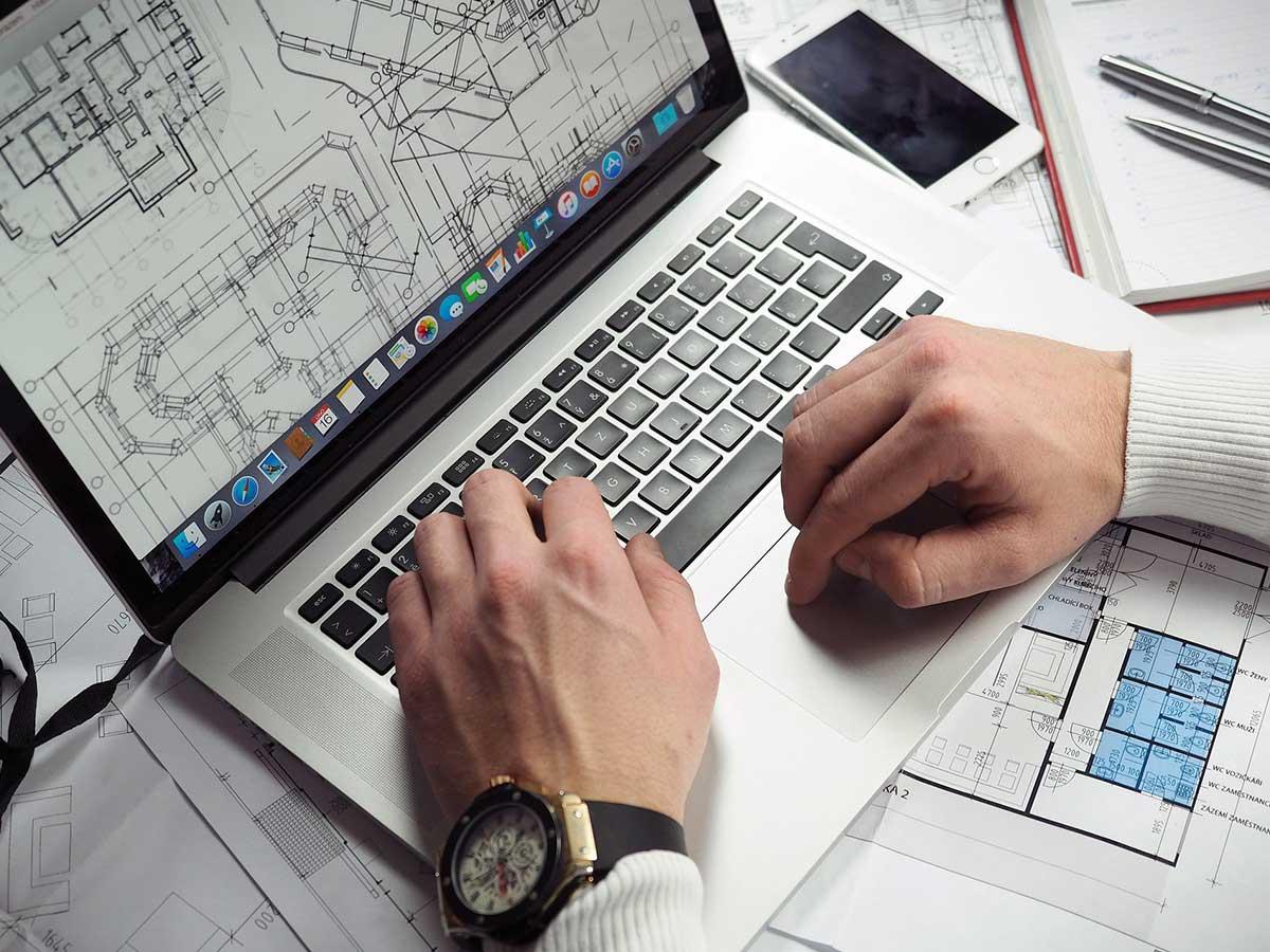 Grundriss-Planung am PC