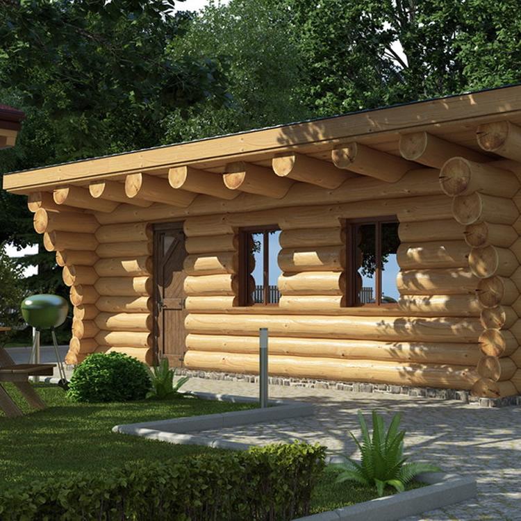 Naturstamm-Gartenhaus aus Holz