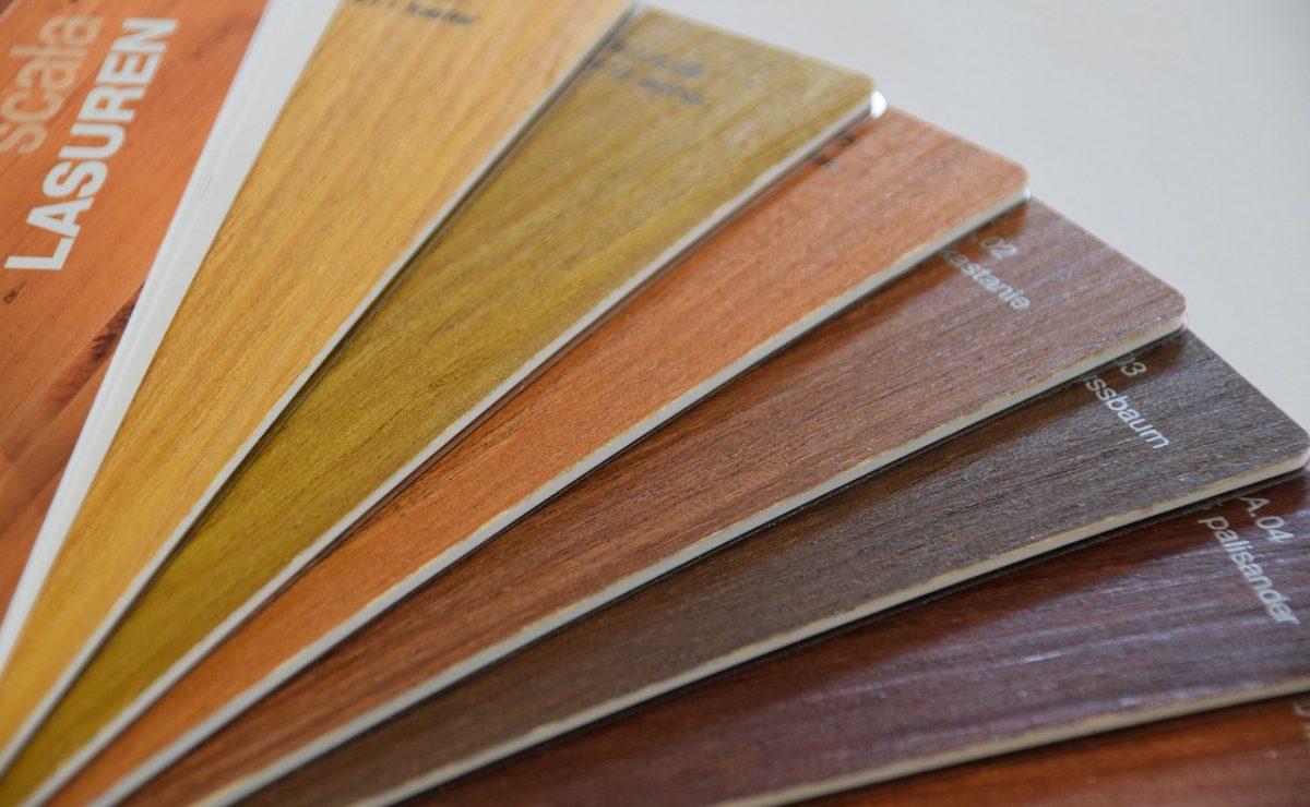Holz-Lasur-Farbfächer
